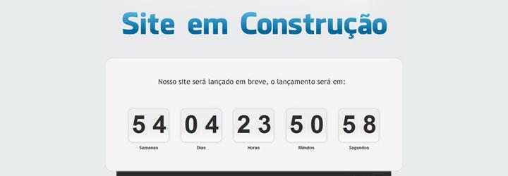 template site em construção